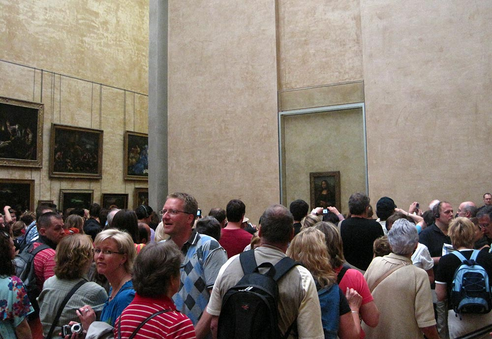 Summer in Europe - Crowds at the Louvre